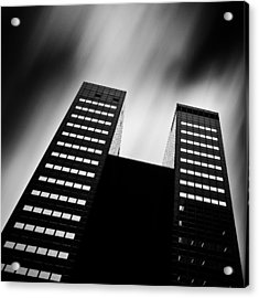 Twin Towers Acrylic Print by Dave Bowman