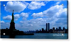 Twin Towers In Heaven's Sky - Remembering 9/11 Acrylic Print