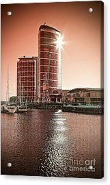 Twin Towers Acrylic Print by Paul Muscat