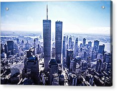 Twin Towers Year 2000 Acrylic Print by Kim Lessel