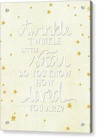 Twinkle Little Acrylic Print by Amy Cummings