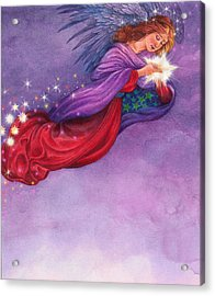 Acrylic Print featuring the painting Twinkling Angel by Judith Cheng