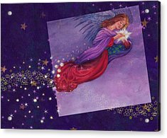 twinkling Angel with star Acrylic Print
