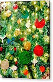 Twinkling Christmas Tree Acrylic Print