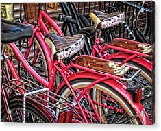 Twins - Bicycle Art By Sharon Cummings Acrylic Print