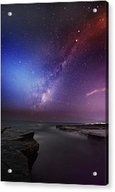 Twins Color Milky Way Acrylic Print by Alex Teng