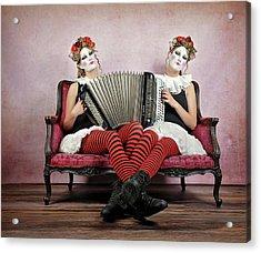 Twins Acrylic Print by Monika Vanhercke