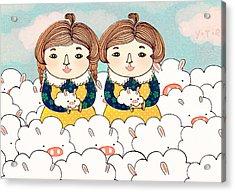 Twins Acrylic Print by Yoyo Zhao