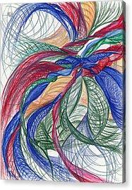 Twirls And Cloth Acrylic Print by Kelly K H B
