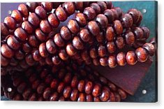 Twisted Beads Acrylic Print by Catherine Ratliff