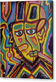 Acrylic Print featuring the painting Twisted Head Of A Contessa by Ray Khalife