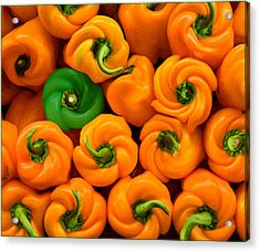 Twisted Peppers Acrylic Print
