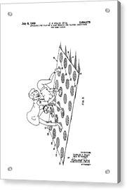 Twister Patent Drawing Acrylic Print