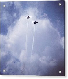 Two Airplanes Flying Acrylic Print