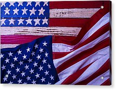Two American Flags Acrylic Print