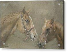 Two Amigos Acrylic Print by Linda Blair