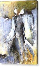 Two Angels Acrylic Print by Alicja Coe