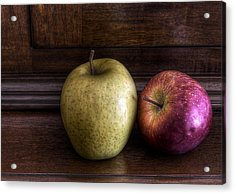 Two Apples Acrylic Print by Leonardo Marangi