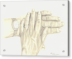 Acrylic Print featuring the drawing Two As One by Patricia Hiltz