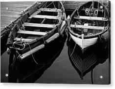 Two At Dock Acrylic Print by Karol Livote
