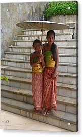 Two Bali Beauties  Descended Acrylic Print by Jack EdsonAdams