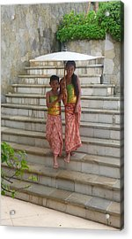 two Bali Beauties  Acrylic Print by Jack Adams