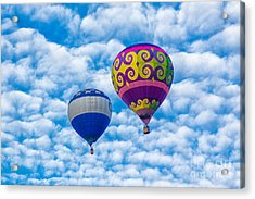 Two Balloons And Clouds Acrylic Print by Mimi Ditchie