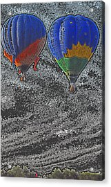 Two Balloons In Colored Pencil  Acrylic Print