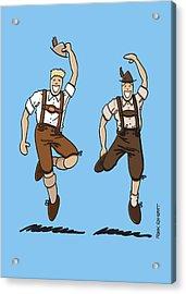 Two Bavarian Lederhosen Men Acrylic Print by Frank Ramspott