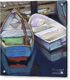Two Boats Bernard Acrylic Print by Susan Herbst