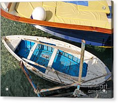 Acrylic Print featuring the photograph Two Boats by Mike Ste Marie