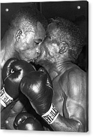 Two Boxers In A Clinch Acrylic Print