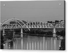 Acrylic Print featuring the photograph Two Bridges by Robert Hebert