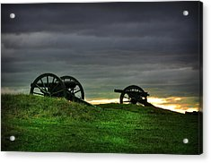 Two Cannons At Gettysburg Acrylic Print by Bill Cannon