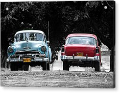 Two Cars Passing Acrylic Print
