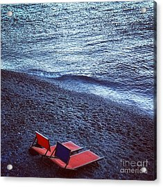 Two Chairs Acrylic Print by H Hoffman