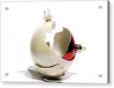 Two Christmas Ball Acrylic Print by Bernard Jaubert