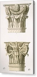 Two Column Capitals Acrylic Print by English School