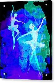Two Dancing Ballerinas  Acrylic Print