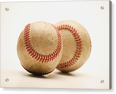 Two Dirty Baseballs Acrylic Print by Darren Greenwood