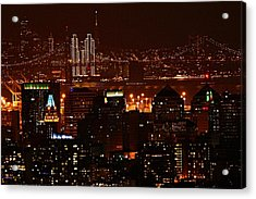 Two Downtowns Acrylic Print
