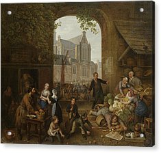 Two Drunks On The Market Near The Westerkerk Acrylic Print by Litz Collection