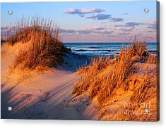 Two Dunes At Sunset - Outer Banks Acrylic Print by Dan Carmichael