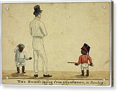 Two Dwarfs Begging In Bombay Acrylic Print by British Library
