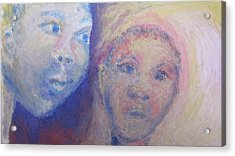 Two Faces Acrylic Print by Cherie Sexsmith