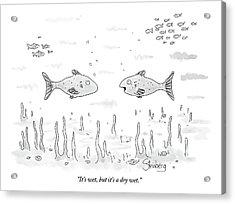 Two Fish Speak Underwater Acrylic Print
