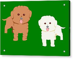 Two Fluffy Pet Dogs Acrylic Print