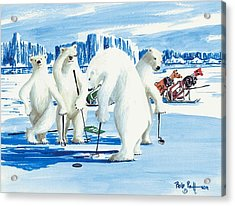 Two Foot Putt Acrylic Print by Bob Patterson