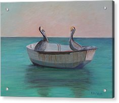 Two Friends In A Dinghy Acrylic Print
