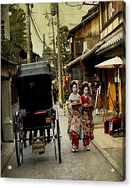 Two Geishas And A Buggy Acrylic Print by Juli Scalzi